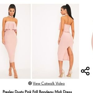 Pretty Little Thing Presley Dusty Pink Frill Band